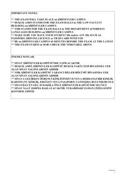 09 Eylül 2014 Hazırlık İngilizce Yeterlik Sınavı Tarih, Saat, Sınav