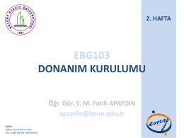 Ders Adı - Kdz. Ereğli MYO - Bülent Ecevit Üniversitesi