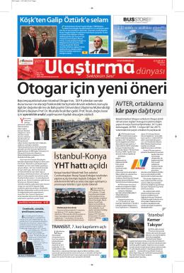 İstanbul-Konya YHT hattıaçıldı