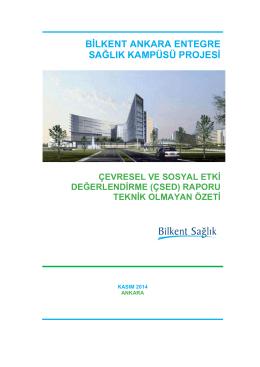 BİLK Projesi Çevresel ve Sosyal Etki Değerlendirme Raporu Teknik
