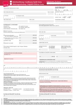 Beitrittserklärung / Sendikasına Üyelik Formu