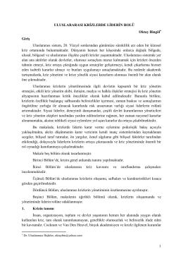 (E)Tuğg.Dr. Oktay BİNGÖL - Merkez Strateji Enstitisü