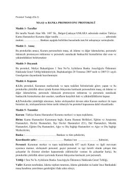 Protokol Taslağı - Türkiye Kamu Hastaneleri Kurumu