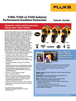 Ti400, Ti300 ve Ti200 Gelişmiş Performanslı Kızılötesi Kameralar