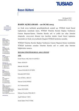 yönetim kurulu basın açıklaması