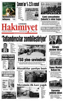 (24 kas\375m.qxd) - Çorum Hakimiyet Gazetesi