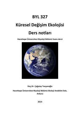 BYL 327 Küresel Değişim Ekolojisi Ders notları