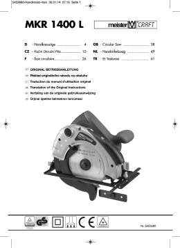 MKR 1400 L - Meister Werkzeuge