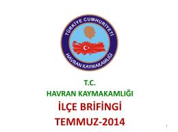 2014 Yılı Kaymakamlık Brifing Raporu