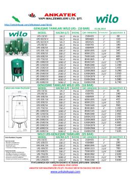 wilo lrs-genleşme tankları (25 bar)