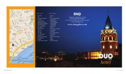 +EN SON BROSUR6++.indd - DUO Hotel Galata | ISTANBUL