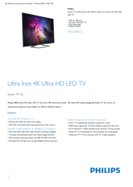 Ultra İnce Smart 4K Ultra HD LED TV