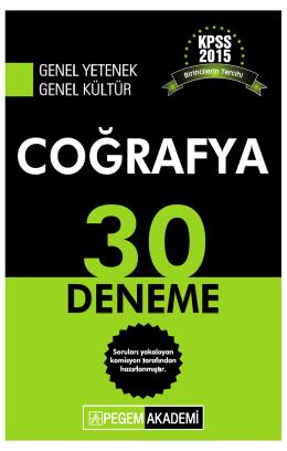COĞRAFYA - Pegem.net