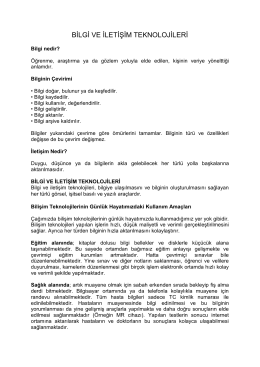 5. Sınıf Bilişim Teknolojileri ve Yazılım Dersi 1. Sınav Ders Notları