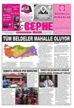 17.12.2014 Tarihli Cephe Gazetesi