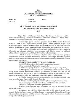 T.C. BİLECİK ADLİ YARGI İLK DERECE