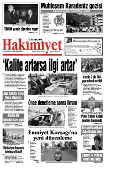 (27 a\360ustos.qxd) - Çorum Hakimiyet Gazetesi