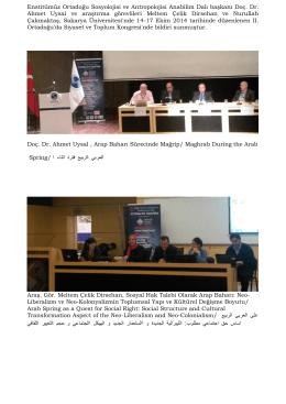 Enstitümüz Ortadoğu Sosyolojisi ve Antropolojisi Anabilim Dalı
