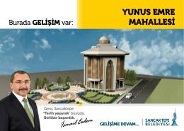 YUNUS EMRE MAHALLESİ - Sancaktepe Belediyesi