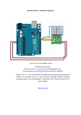Arduino Uno R3, 7_seg Click, CLICK2ARDUINO kartı