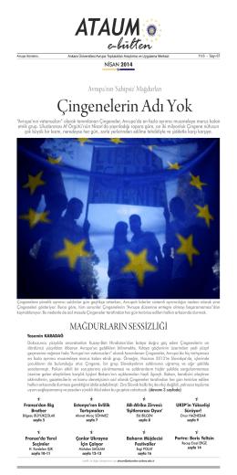 Sayı 67 Mayıs 2014 - ATAUM