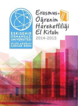 ESOGÜ Erasmus Öğrenim Hareketliliği El Kitabı