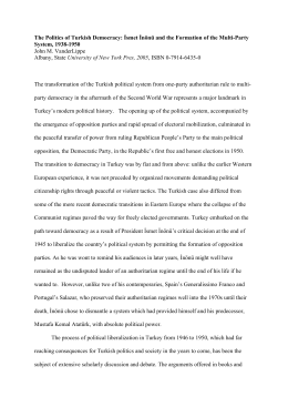 The Politics of Turkish Democracy: İsmet İnönü and the