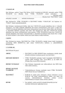 İşletmeci ISDN Sözleşmesi - Kurumsal