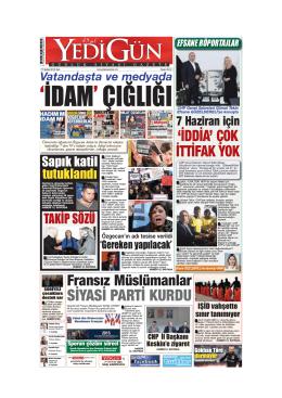 `İDAM` ÇIĞLIĞI - Yedigün Gazetesi