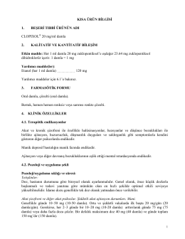 Clopixol® 20 mg Damla (TITCK KÜB onay tarihi: 16.02
