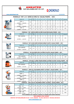 pedrollo top 1-2-3 serisi az kirli su dalgıç pompa +40 c