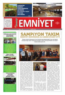 Mayıs 2014 Sayı:40 Yıl:3 - Gaziantep Emniyet Müdürlüğü