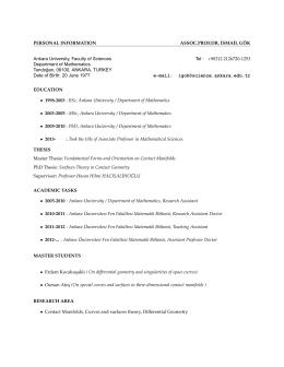 Personal PDF File - Ankara Üniversitesi