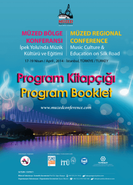 Program - International MÜZED Regional Conference