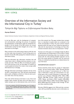 Overview of the Information Society and the