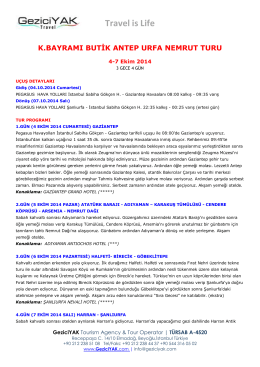 Antep, Urfa, Nemrut (pdf)