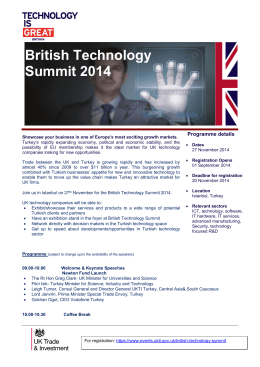 British Technology Summit 2014