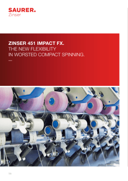 zınser 451 ımpact fx. the new flexıbılıty ın worsted compact