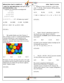 7.sınıf çözümler