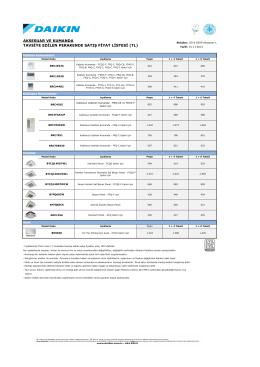 20140111-Daikin Perakende Fiyat Listesi
