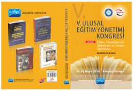 Tam Metin Bildiri Kitapçığı - Eğitim Yöneticileri ve Eğitim Denetcileri