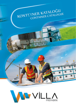 2014 konteyner kataloğu - Prefabrik Ev Fiyatları