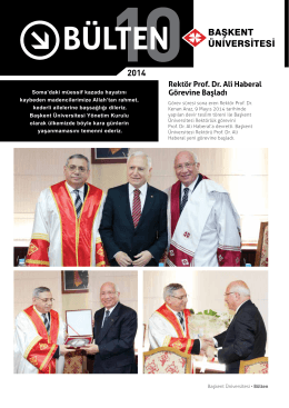 Rektör Prof. Dr. Ali Haberal Görevine Başladı