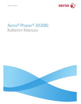 Xerox® Phaser® 3020BI Kullanım Kılavuzu