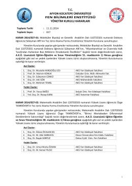 karar 2014/027 - Afyon Kocatepe Üniversitesi