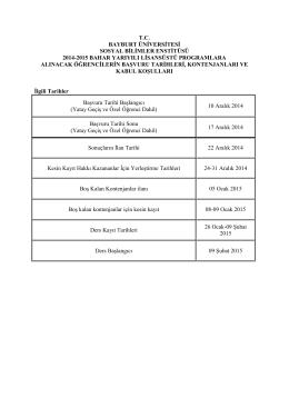 tc bayburt üniversitesi sosyal bilimler enstitüsü 2014
