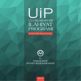 UİP 2014 PDF - Uluslararası İlahiyat Programı