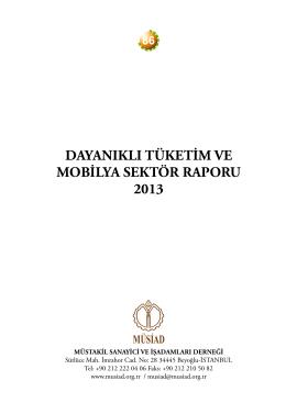 dayanıklı tüketim ve mobilya sektör raporu 2013