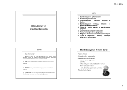 Standartlar ve Standardizasyon