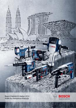 Bosch Elektrikli El Aletleri 2014 Aralık Ayı Kampanya Kitapçığı